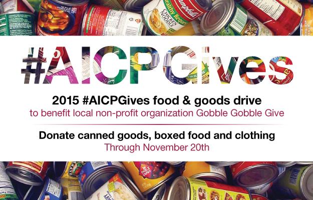 2015 AICP+AICE Gives Food & Goods Drive