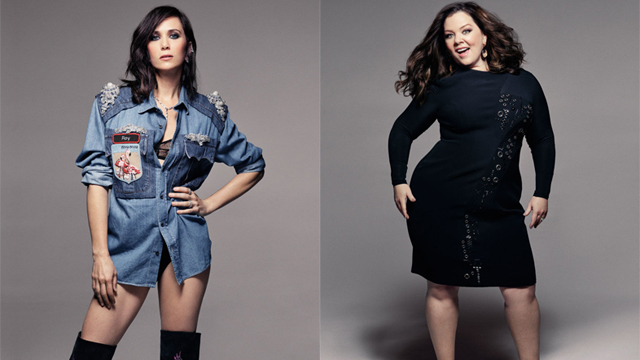 Shot at Quixote: Kristen Wiig and Melissa McCarthy for Elle Magazine by Mark Seliger