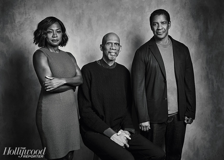 Shot at Quixote: Kareem Abdul-Jabbar Interviews Denzel Washington and Viola Davis for The Hollywood Reporter